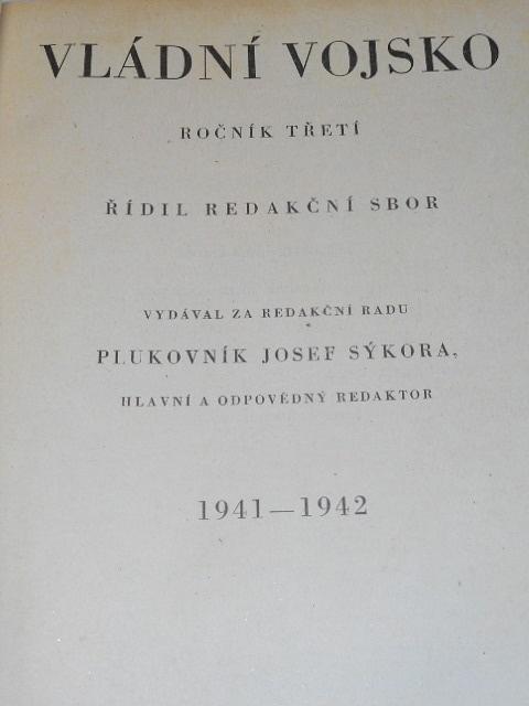 Vládní vojsko - 1941, 1942 - časopisy