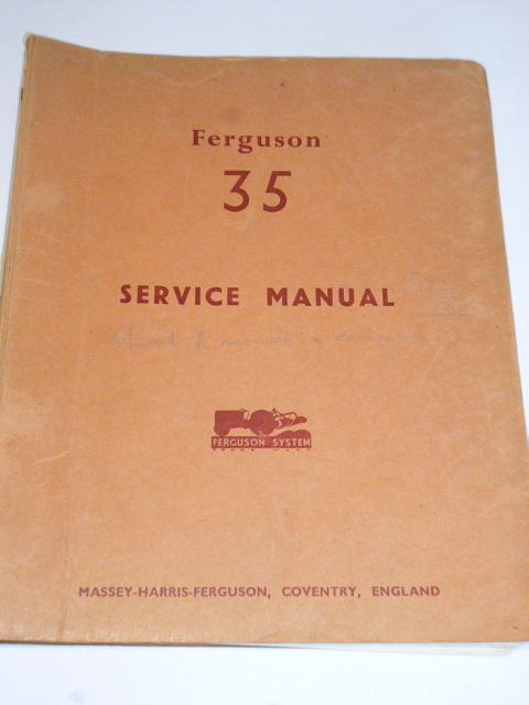 Ferguson 35 - Service Manual