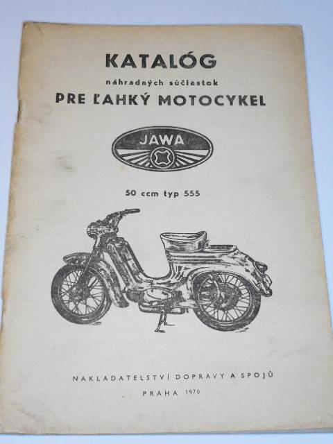 JAWA 50 typ 555 - katalóg náhradných súčiastok - 1970