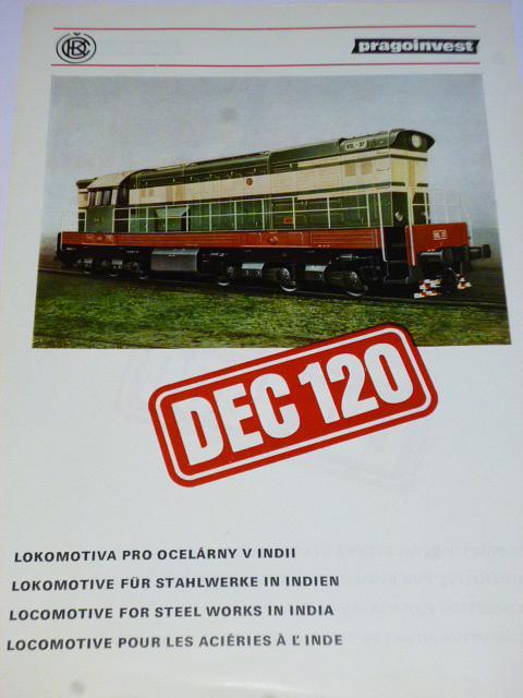 ČKD - lokomotiva DEC 120, LDE1500 - prospekt - leták