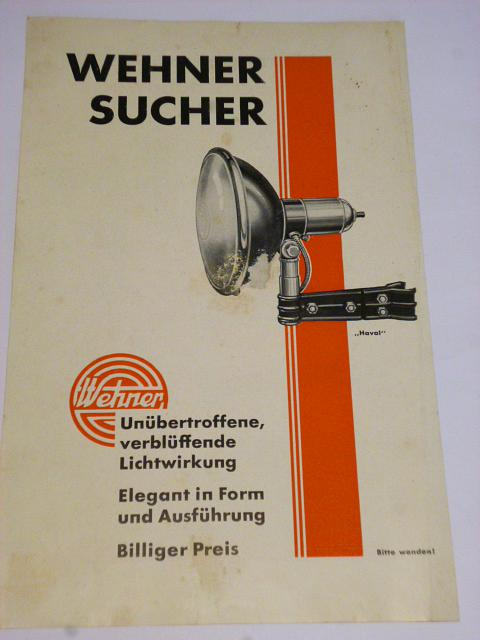 Wehner Sucher - hledáček - prospekt