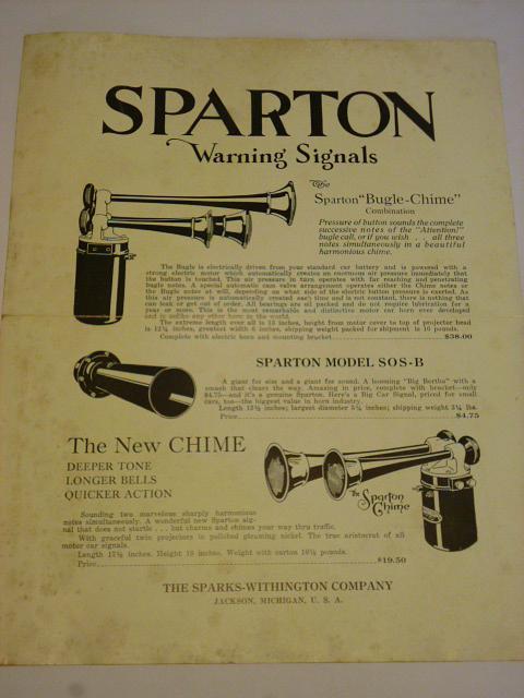 Sparton Warning Signals - prospekt - 1929