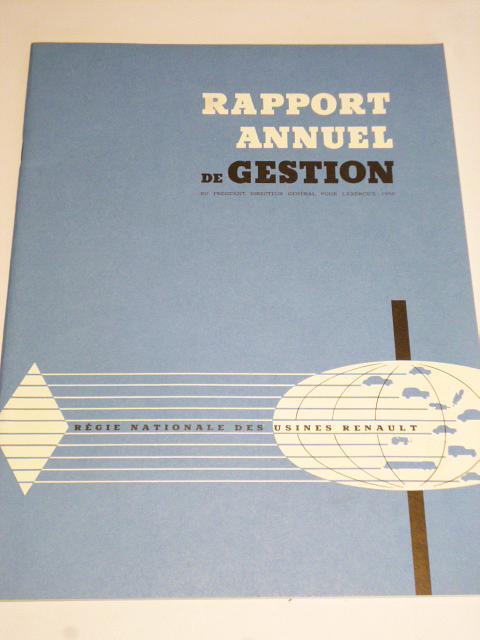 Renault - rapport annuel de gestion - 1957