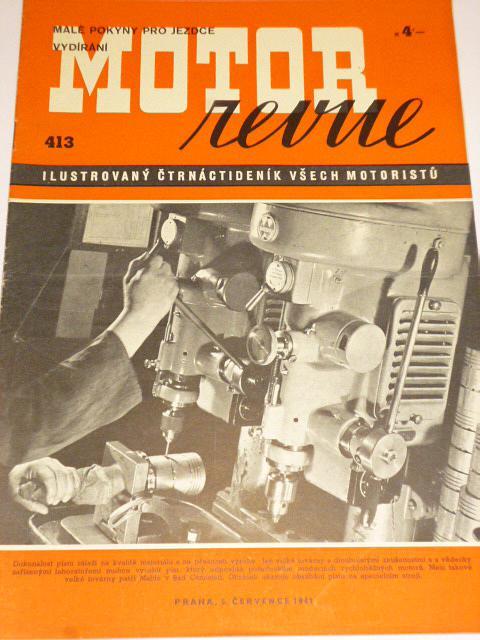 Motor Revue - 1941 - ročník XXI., číslo 413