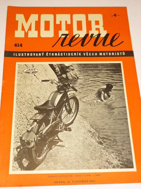 Motor Revue - 1941 - ročník XXI., číslo 414