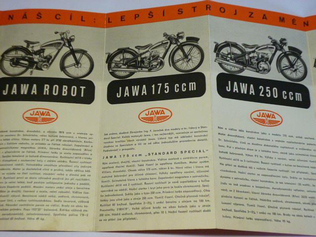 JAWA Robot, 175, 250, 350 OHV - O dobrém motocyklu - prospekt