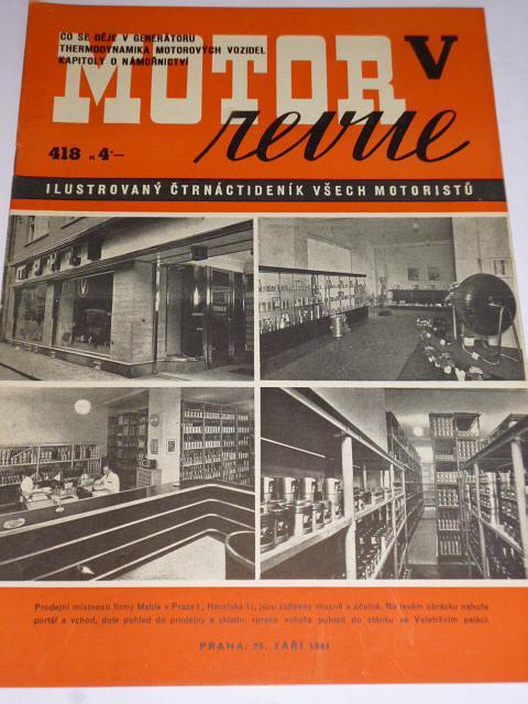 Motor Revue - 1941 - ročník XXI., číslo 418