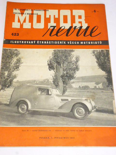 Motor Revue - 1941 - ročník XXI., číslo 423