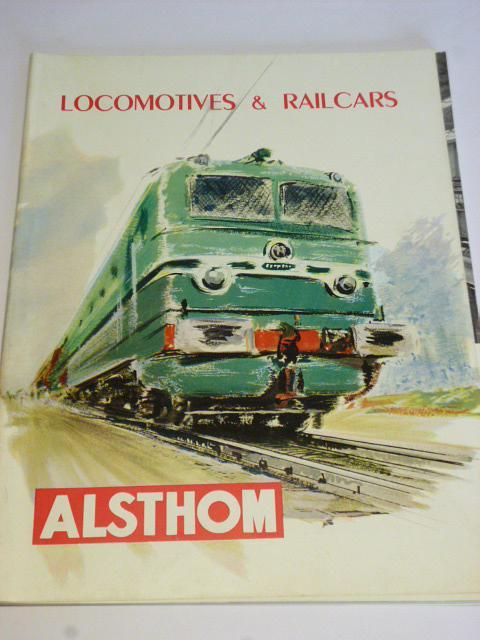ALSTHOM - Locomotives, Railcars - prospekt - 1956
