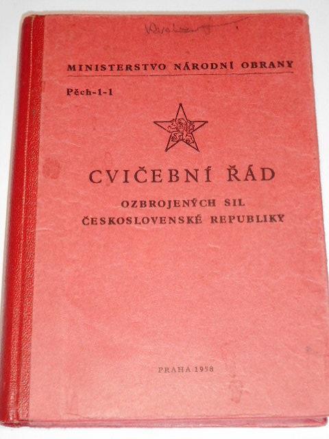 Cvičební řád ozbrojených sil Československé republiky - 1958 - Pěch-1-1