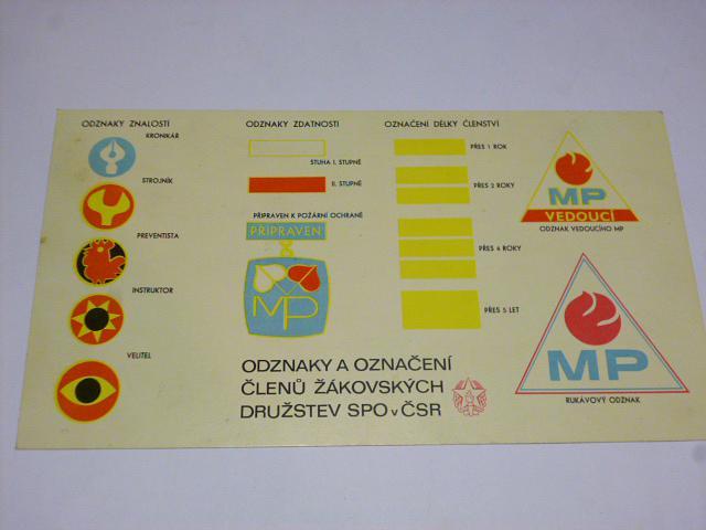 Odznaky a označení členů žákovských družstev SPO v ČSR - 1974