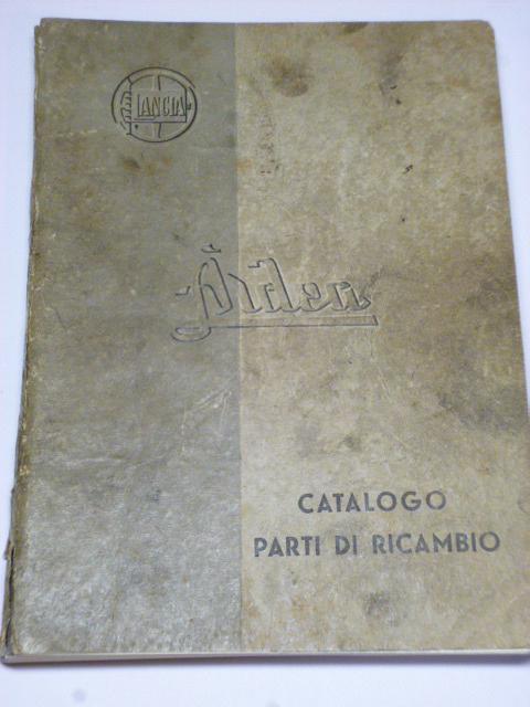Lancia Ardea - catalogo parti di ricambio - 1941