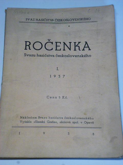 Ročenka Svazu hasičstva československého 1937
