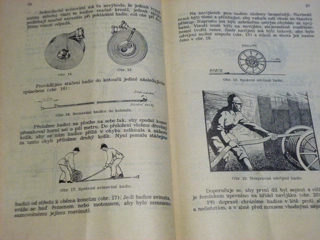 Hasičské hadice - služební předpisy českého hasičstva - 1942