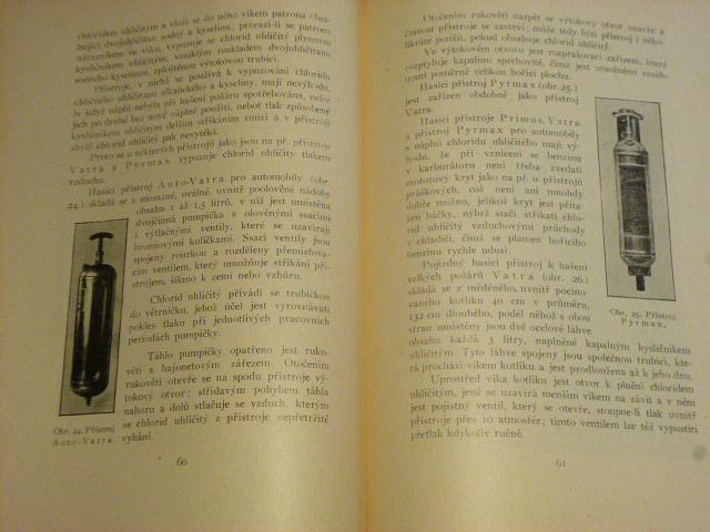 Hasící přístroje jich zařízení a používání - Formánek - 1929