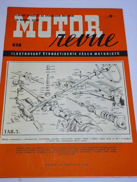 Motor Revue - 1942 - ročník XXII., číslo 438