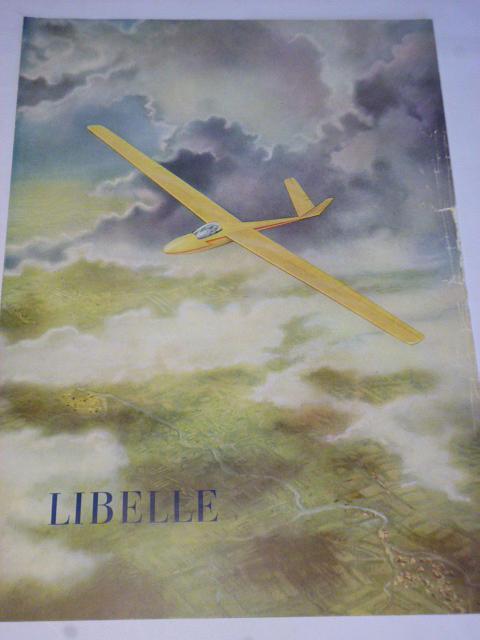 Libelle - Segelflugzeug - kluzák - prospekt - 1956
