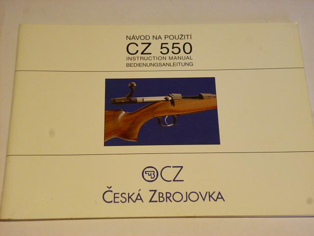 CZ 550 - návod na použití - 1999