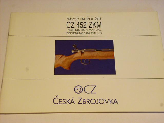 CZ 452 ZKM - návod na použití - 2000