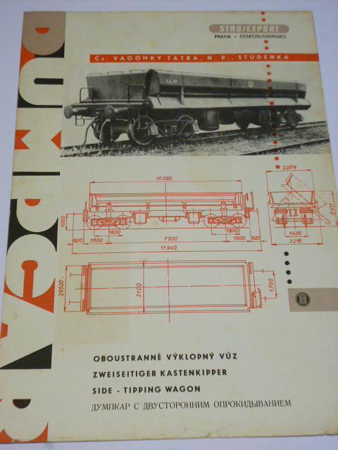 Čs. vagónky Tatra Studénka - oboustranně výklopný vůz - prospekt