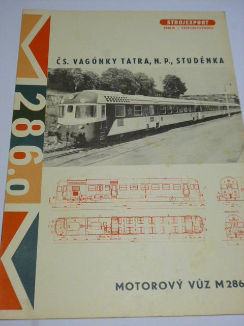 Čs. vagónky Tatra Studénka - motorový vůz M 286.0 - prospekt