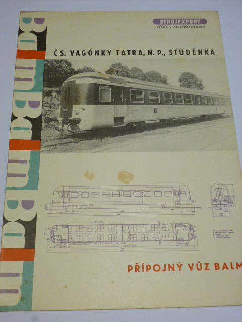 Čs. vagónky Tatra Studénka - přípojný vůz BALM - prospekt