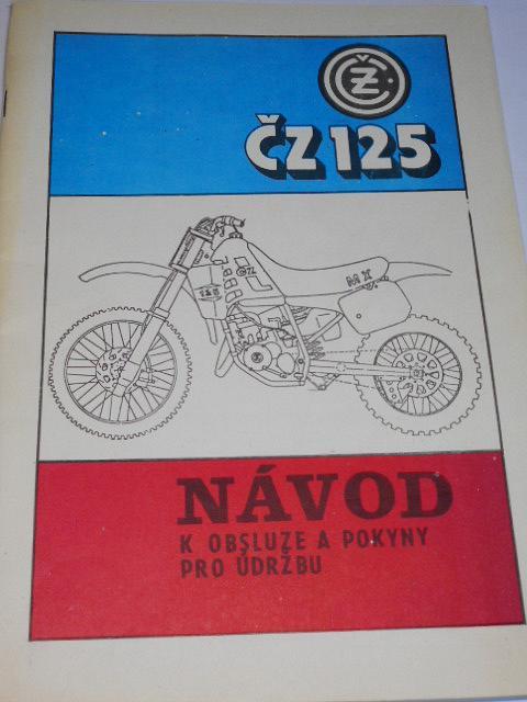 ČZ 125/519 - návod k obsluze a pokyny pro údržbu - 1991