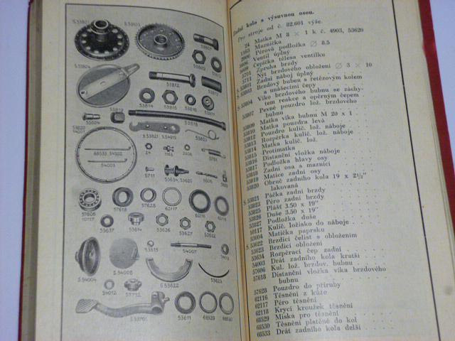 JAWA 350 SV, OHV - seznam náhradních dílů pro motocykl