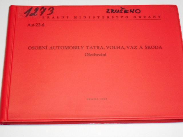 Osobní automobily Tatra, Volha, VAZ a Škoda - Ošetřování - 1991