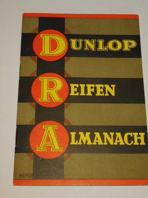 Dunlop Reifen Almanach - prospekt