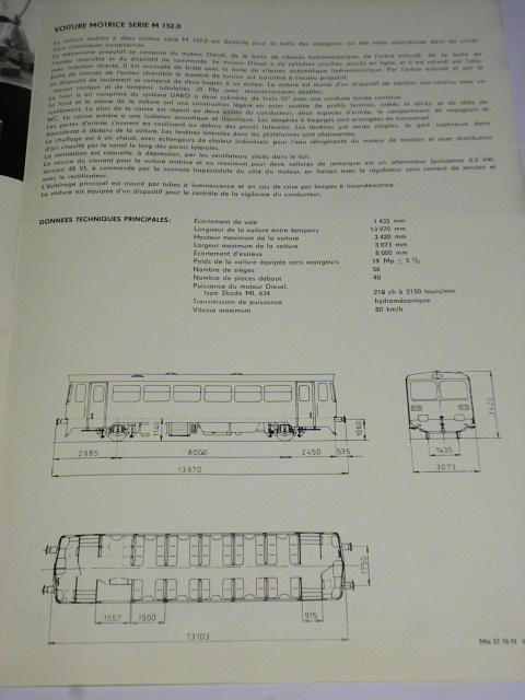 Vagónka Studénka - motorový vůz řady M 152.0 - prospekt - Tatra, Strojexport