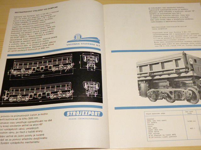 Vagónka Studénka - Tatra - Dumpcar VS-105 - prospekt - 1975