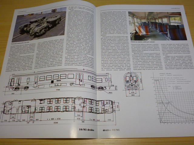 Motorové vozy řady 843 - prospekt - otisk z časopisu? 1995