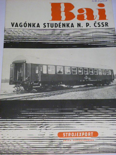 Vagónka Studénka - velkoprostorový přípojný vůz řady Bai - prospekt - Strojexport, Tatra