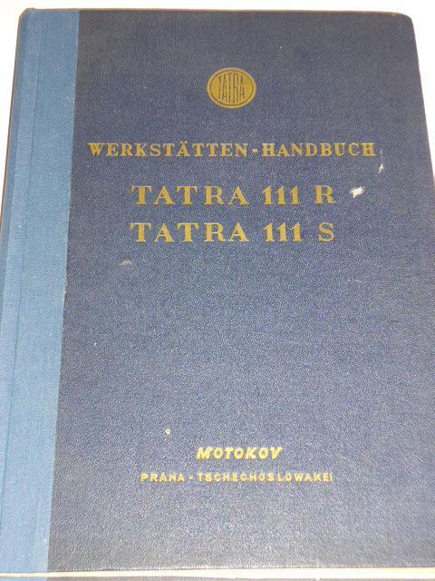 Tatra 111 R, Tatra 111 S Werkstätten - Handbuch - 1957 - Motokov