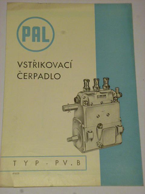 PAL - vstřikovací čerpadlo typ PV.B - seznam dílů