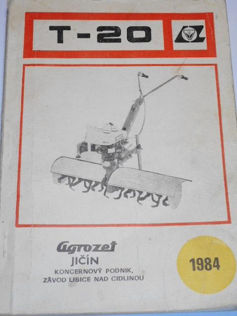 Úplná převodová skříň T-20 - návod k obsluze, seznam dílců - 1984 - Terra