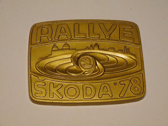 Rallye Škoda 1978 - V. mezinárodní automobilová soutěž - Mladá Boleslav - plaketa