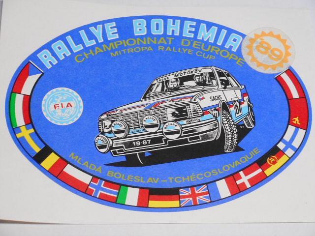Rallye Bohemia - Mladá Boleslav - Škoda - 1989 - samolepka