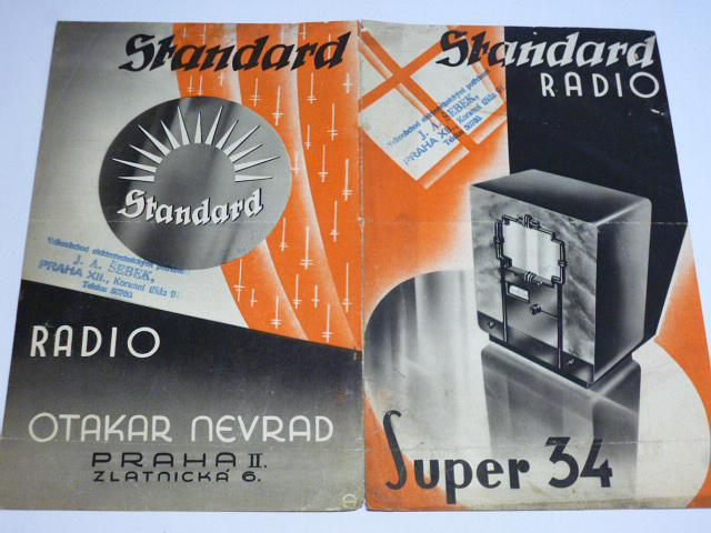 Standard Radio - Super 34 - prospekt - Otakar Nevrad, Praha