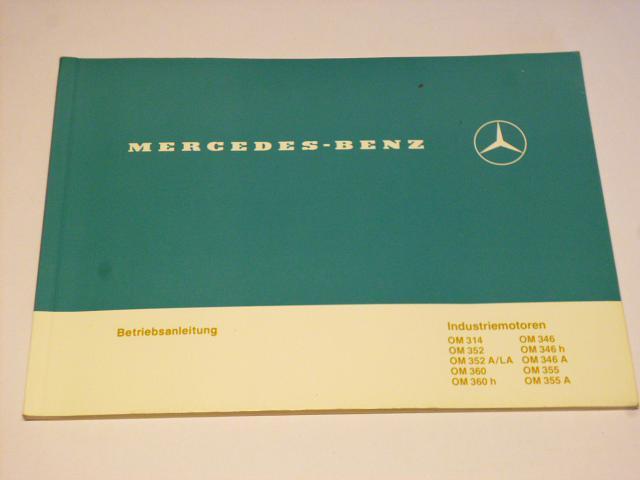 Mercedes - Benz - Industriemotoren Betriebsanleitung - 1983