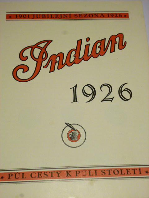 Indian 1926 - Prince, Scout, Big Chief, Princess - prospekt