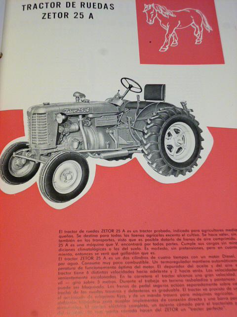 Zetor, Agrostroj - traktory, zemědělské stroje - prospekty - Motokov - Zetor 25 A, Zetor 25 K, Zetor Super kolový, pásový, motorobot PF 6...