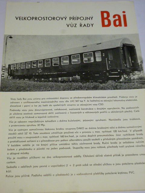 Vagónka Studénka - velkoprostorový přípojný vůz řady Bai - prospekt