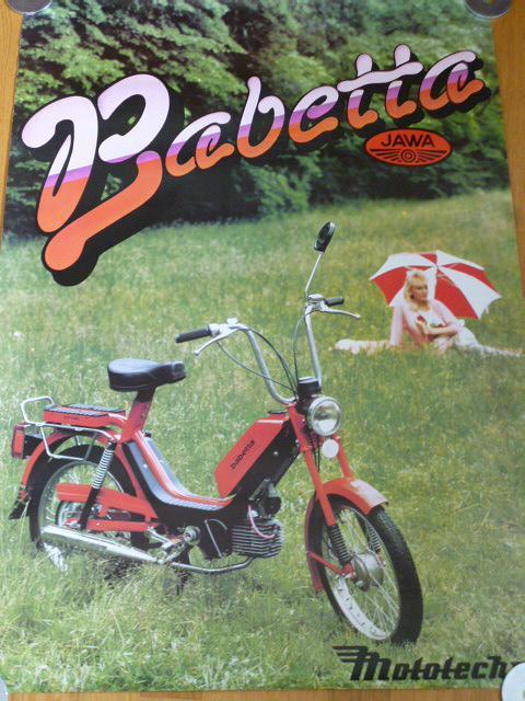 JAWA 210 Babetta - plakát - Mototechna