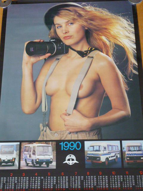 Avia - plakát - kalendář 1990