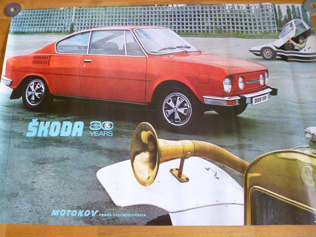 Škoda 110 R - plakát - Motokov - 1975