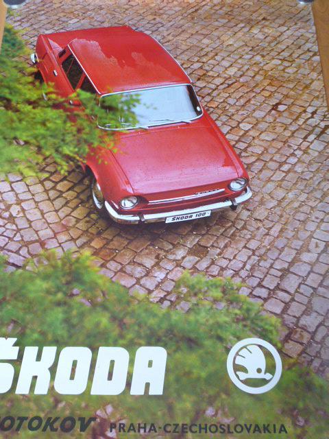 Škoda 100 - plakát - Motokov