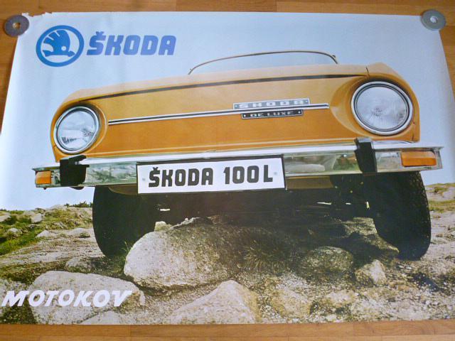 Škoda 100 L - plakát - Motokov