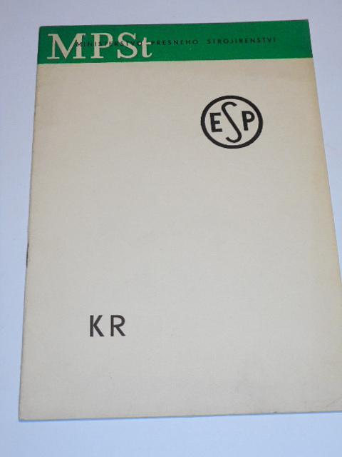ESP - KR katalog kabelových rozdělovačů 49015 a, 49015 b, 49015 c, 49015 d, 49015 e, 49015 f - 1957